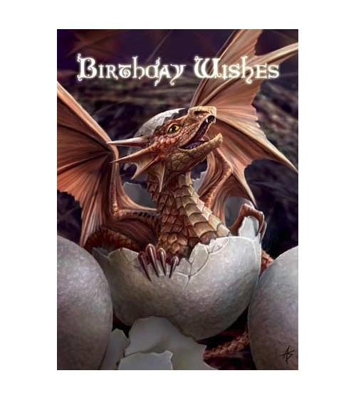 Carte Anniversaire Dragon