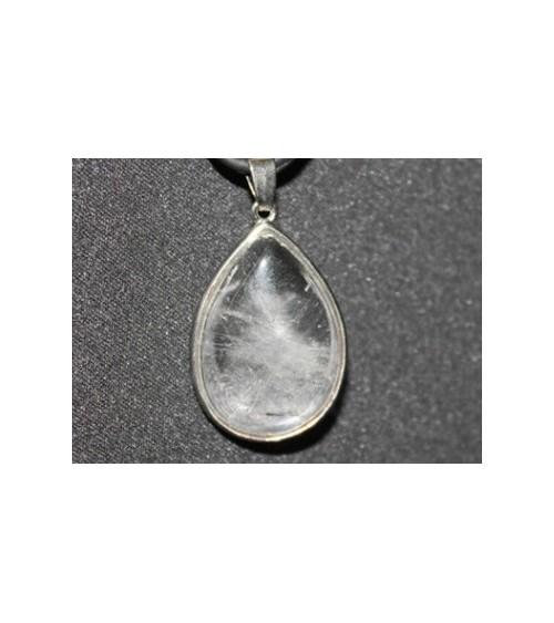 Pendentif goutte Cristal de roche