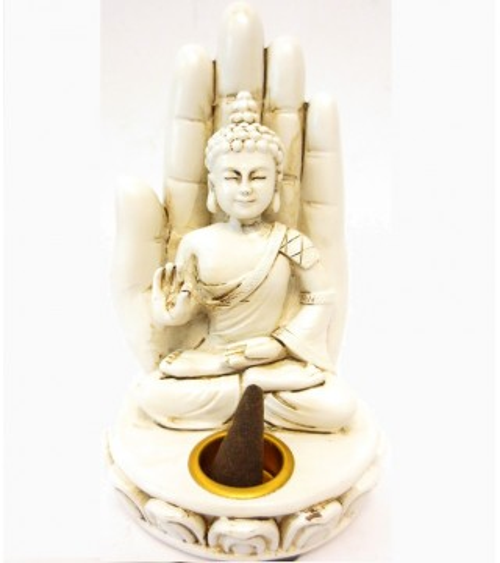 Porte encens Bouddha sur main