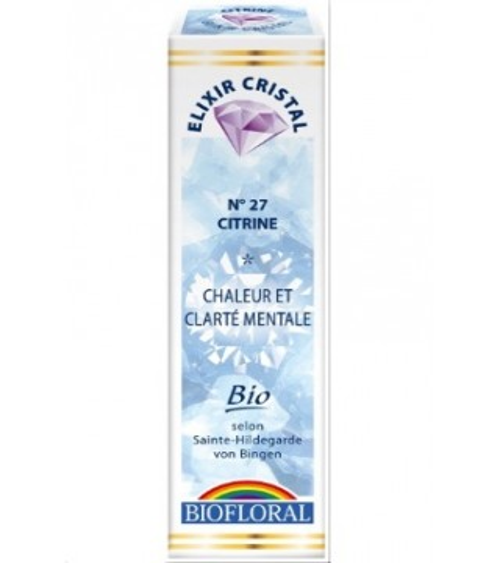 Elixir minéral citrine - 20ml - bio