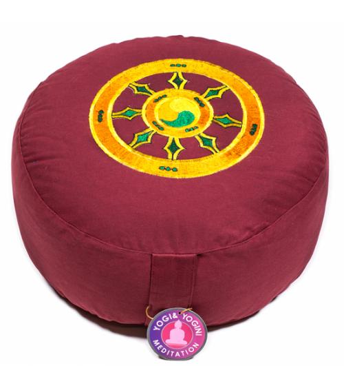 Coussin de méditation Roue du Dharma