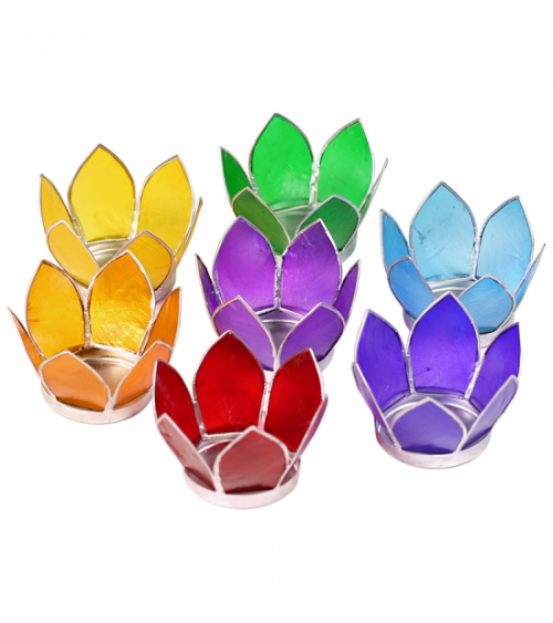 Lot de 7 bougeoirs Lotus