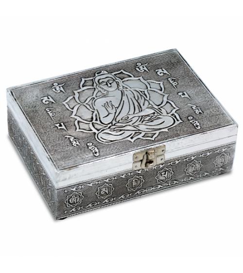 Coffret Bouddha en métal