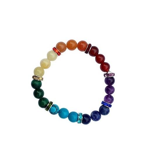 Bracelet 7 Chakras élastique