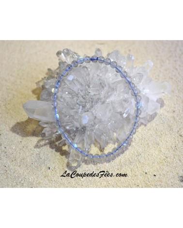Bracelet Pierre Labradorite blanche (4 mm)