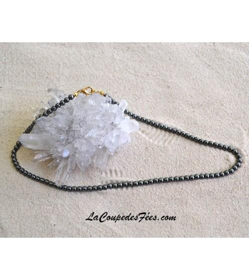 Collier perles Hématite 4 mm