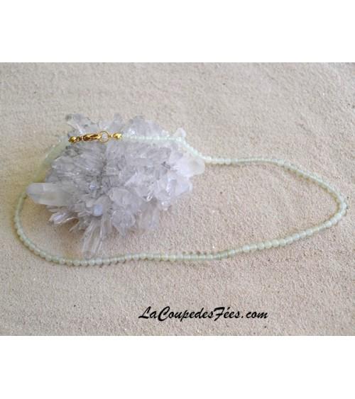 Collier perles Jade de Chine 4 mm