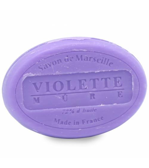 Savon de Marseille naturel Violette Mûre