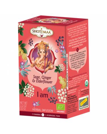 Thé bio ayurvédique à la sauge, gingembre et de fleur de sureau