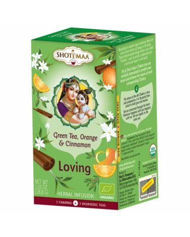 Thé vert biologique ayurvédique Orange et Cannelle