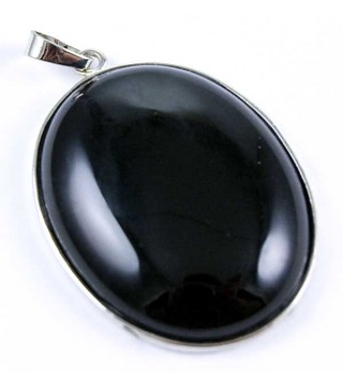 Pendentif cabochon Onyx Noire