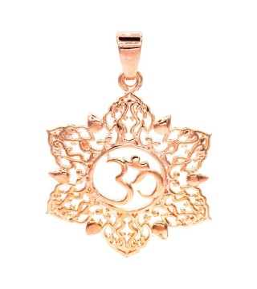 Pendentif Om Lotus