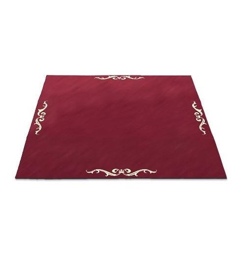 Tapis rouge 80 x 80 cm