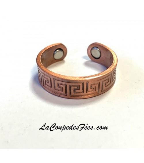 Bague magnétique celtique en cuivre