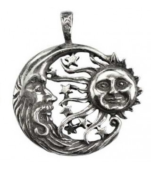 Pendentif Lune et Soleil