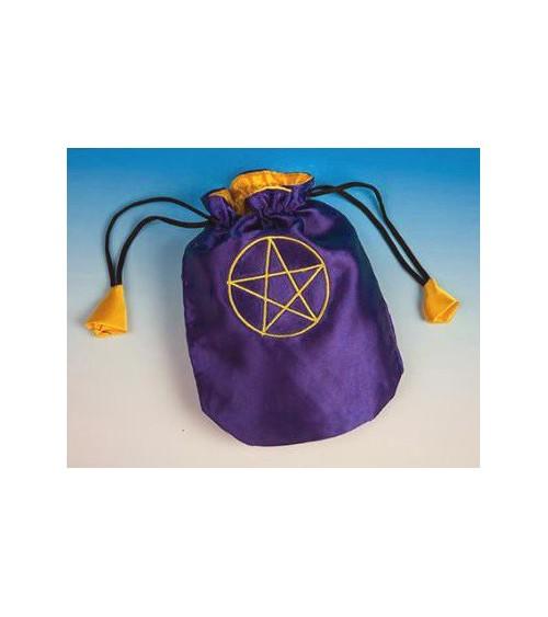 Bourse Pentagramme Satin violet