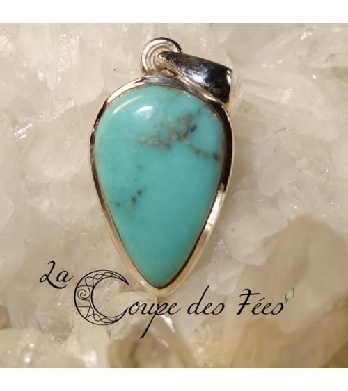 Pendentif Turquoise & Argent