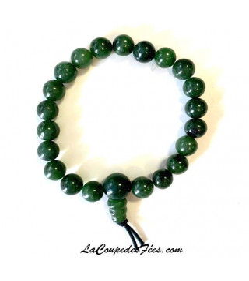 Bracelet Mala en Jade néphrite