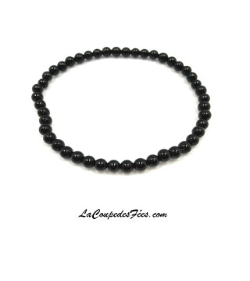 Bracelet Pierre en Onyx (4 mm)