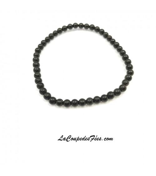 Bracelet en Obsidienne Noire (8 mm)