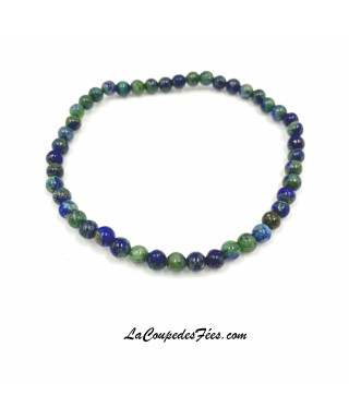 Bracelet Pierre en Azurite-Malachite (4 mm)