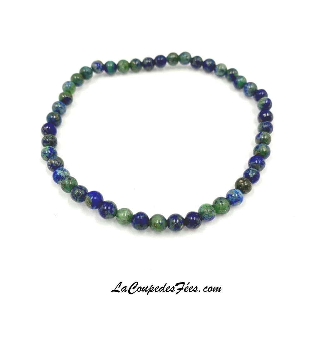 Bracelet Pierre en Azurite-Malachite (4 mm)
