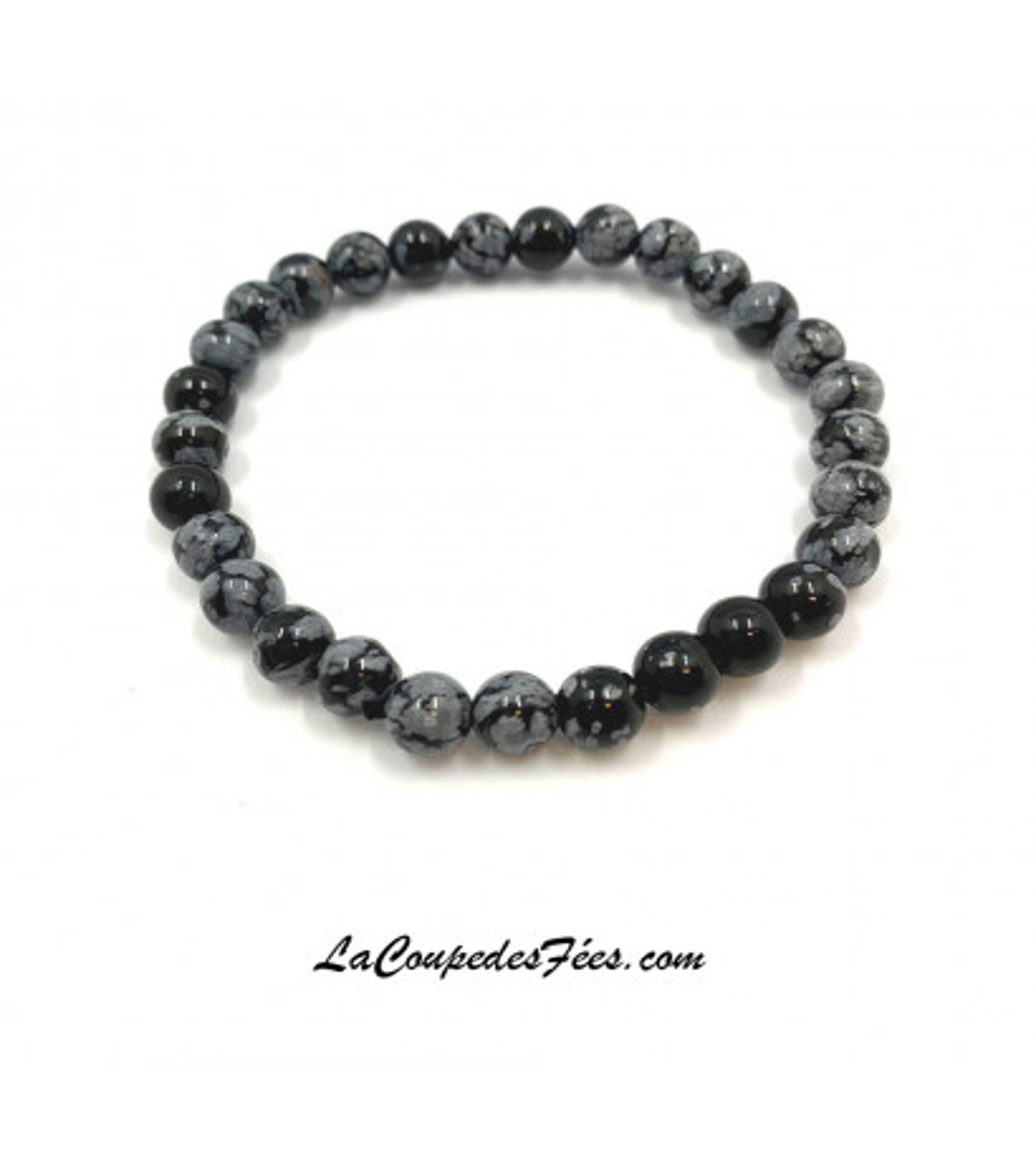 Obsidienne à Flocons (6 mm)