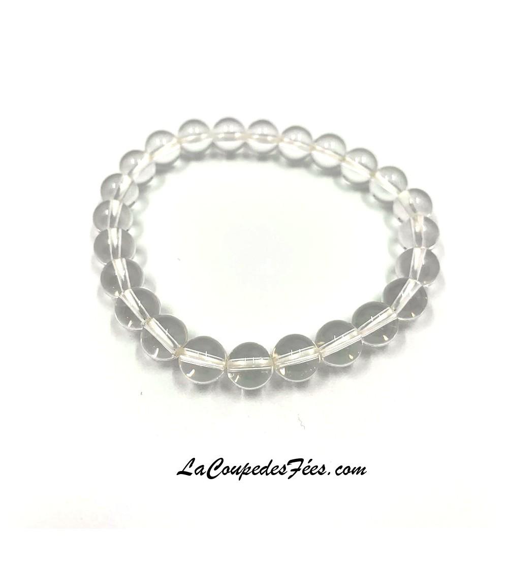 Bracelet Pierre Cristal de roche (6 mm)