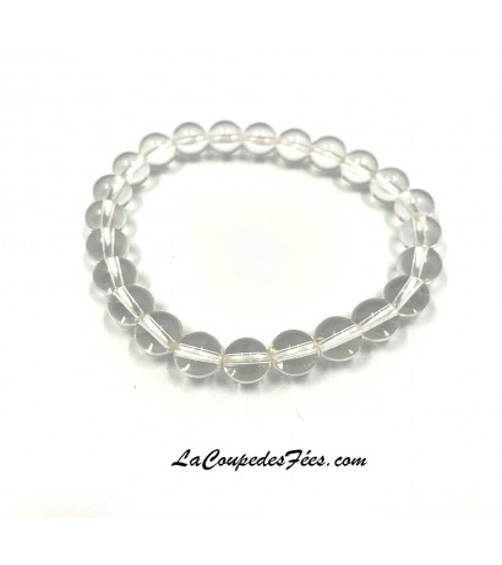 Bracelet Pierre Cristal de roche (8 mm)