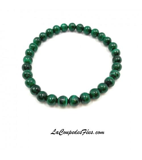 bracelet perle de 6 mm en malachite