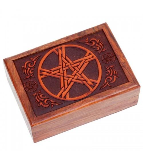Boite à tarot Pentagramme