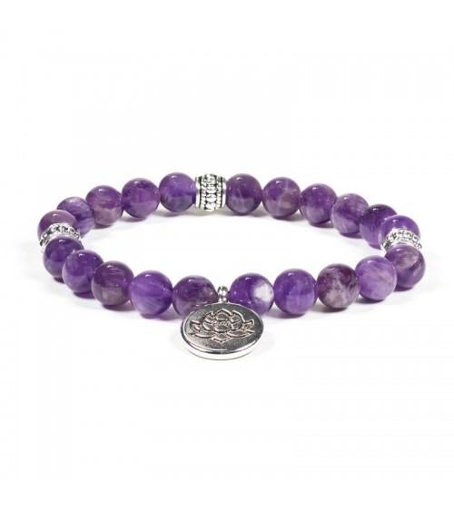 Bracelet Améthyste & Lotus
