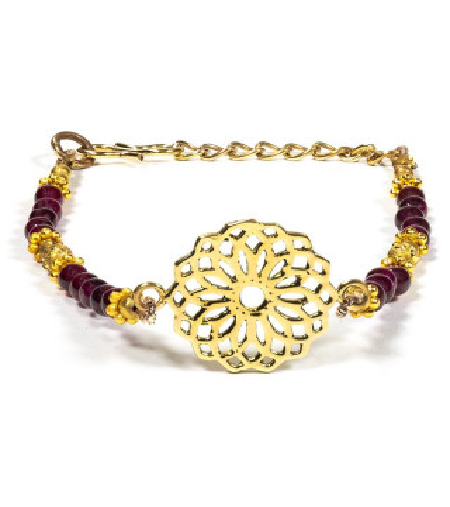Bracelet graine de vie avec Grenat