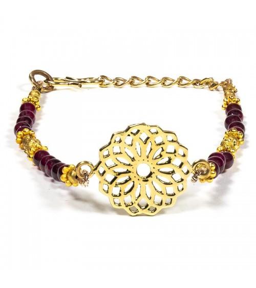 Bracelet Rubis et Saphir