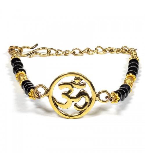 Bracelet Om avec Onyx