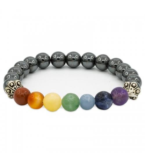 Bracelet 7 Chakras Hématite