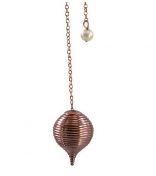 Pendule Boule Striée en cuivre