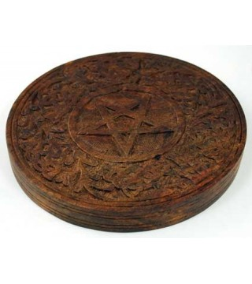 Pentacle bois sculpté