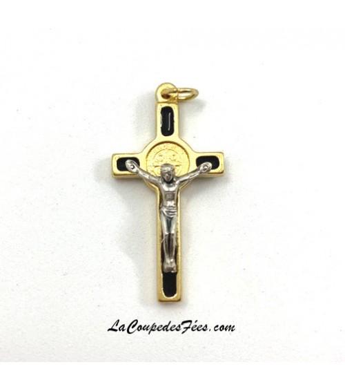 Croix de Saint Benoît Dorée