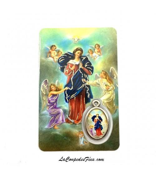 Carte Médaille Marie qui défait les noeuds