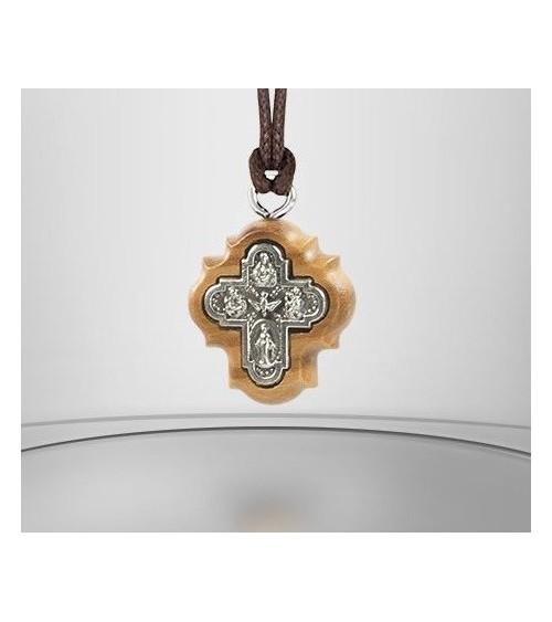Pendentif Croix Saints Protecteurs