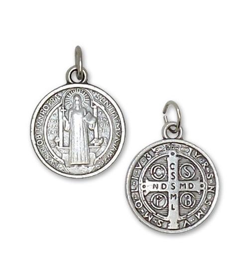 Médaille de St Benoît argentée