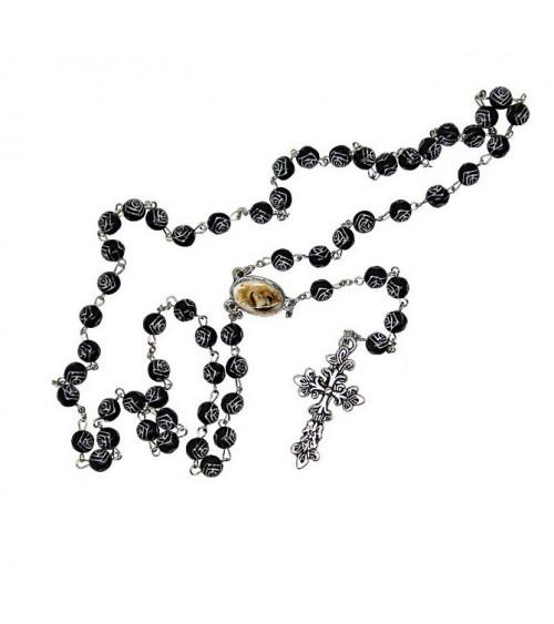 Chapelet Saint Rita Roses noires