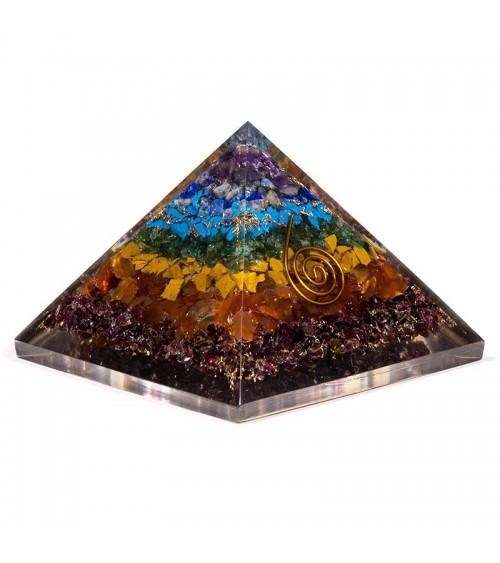 Pyramide Chakra en orgonite