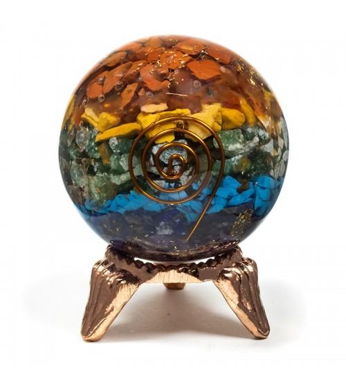 Sphère 7 Chakra en orgonite