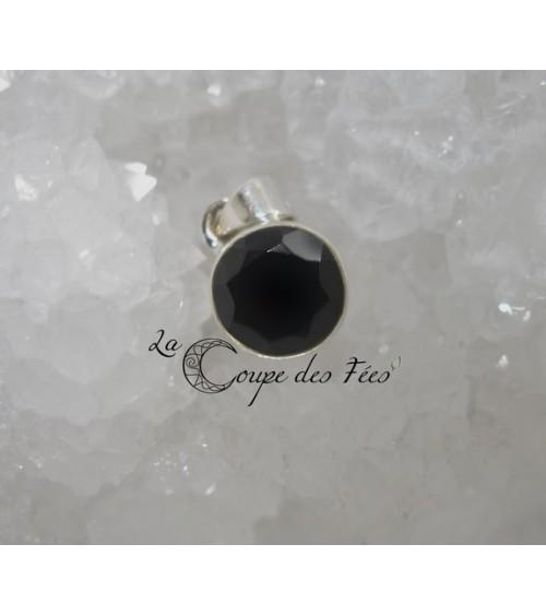 Pendentif Spinelle Noir & Argent