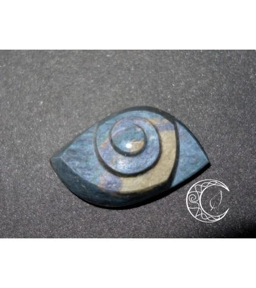 Cabochon Spirale en Oeil céleste