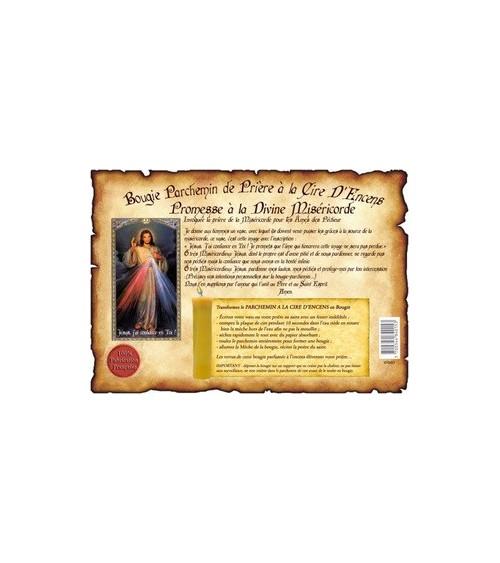 Parchemin de cire à l'encens Divine Miséricorde