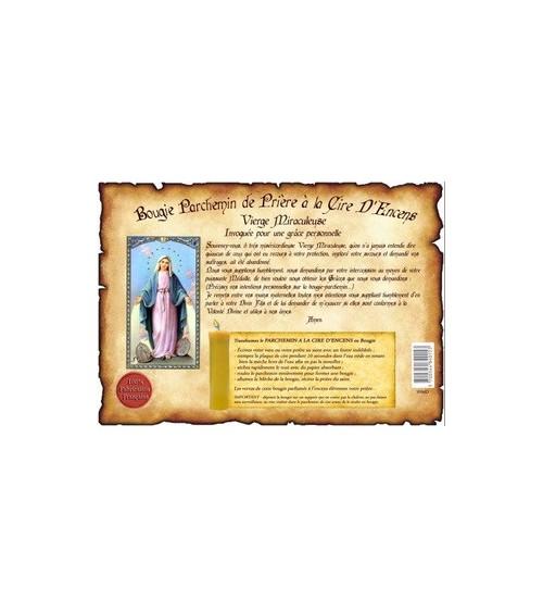 Parchemin de cire à l'encens Vierge Miraculeuse