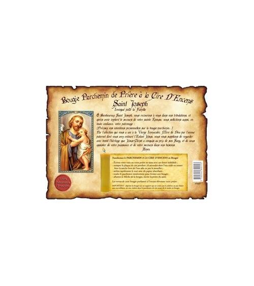 Parchemin de cire à l'encens Saint Joseph